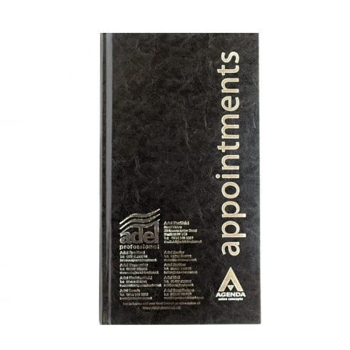 Adel Professional Black Salon Appointment Book