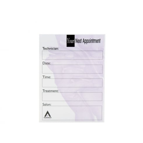 Agenda Nail Technician Appointment Cards