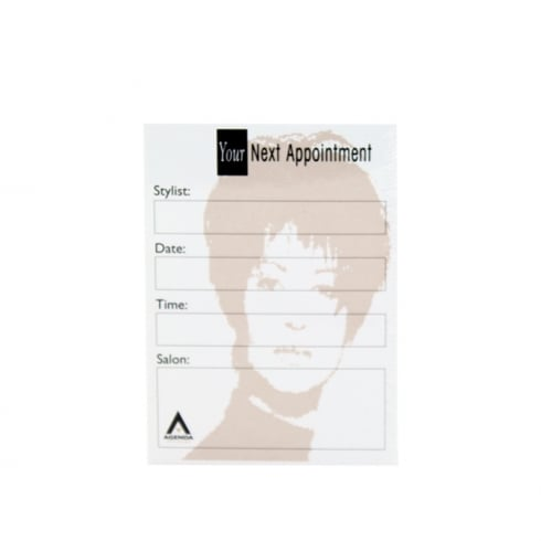 Agenda Salon Appointment Cards (100)