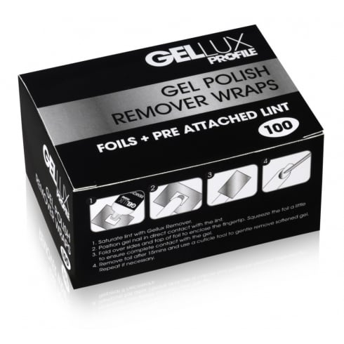 Gellux Gel Polish Remover Wraps (100)