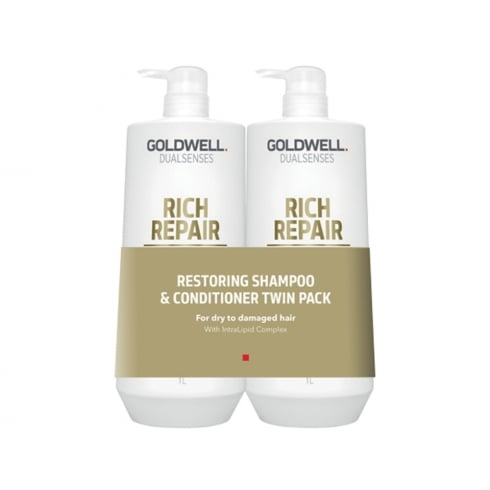 Goldwell Dualsenses Restoring Shampoo & Conditioner 1 Ltr Twin