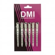 Aluminium Double Prong Hair Sectioning Clips (6pc)