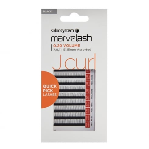 Marvelash J Curl Quick Pick Individual Lashes (0.20 assorted)