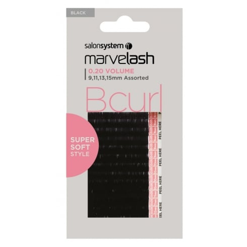 Marvelash Super Soft B Curl Individual Lashes (0.20 Assorted)