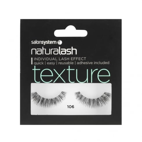 Naturalash Black Texture False Strip Lashes
