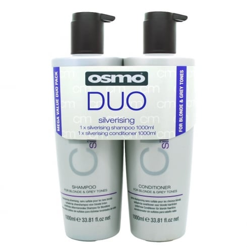 Osmo Silverising Shampoo and Conditioner 1 Ltr Twin Pack