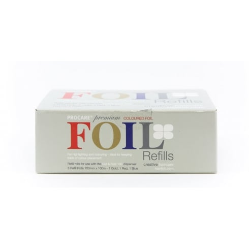 Procare Hair Foil Multiple Colours Refill Pack (3 Rolls)