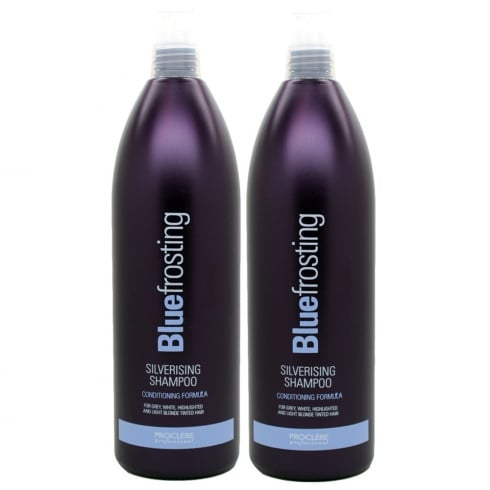 Proclere Blue Frosting Silver Shampoo 1 Ltr Twin Pack
