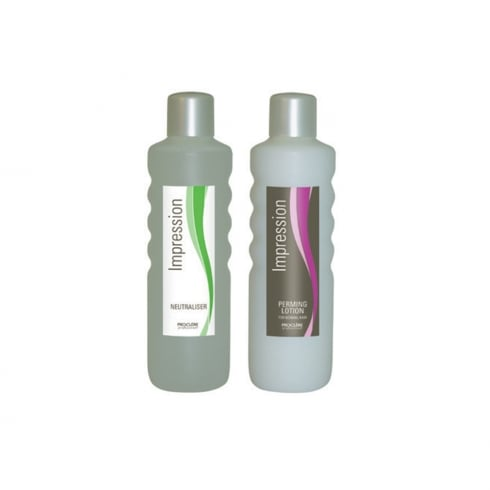 Proclere Impression Perming Solution Twin Pack (Normal Solution and Neutraliser) 1 Ltr
