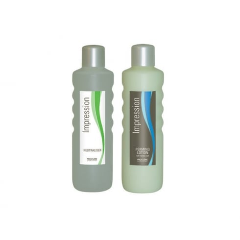 Proclere Impression Perming Solution Twin Pack (Tinted Solution and Neutraliser) 1 Ltr