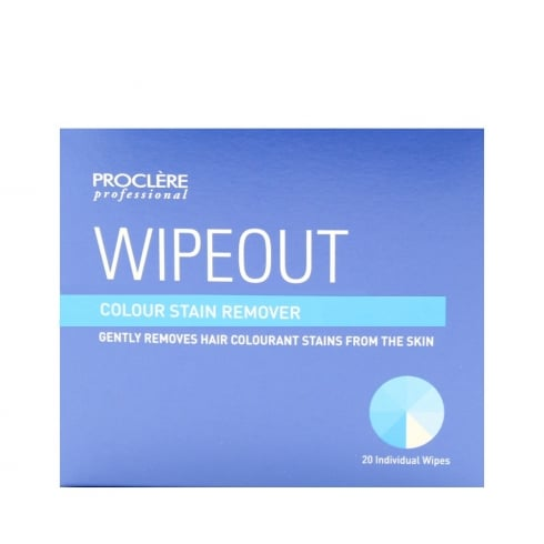 Proclere Wipeout Hair Dye Skin Stain Remover Wipes (20)